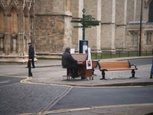 The world's most committed busker